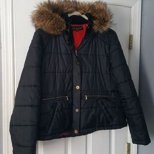 Vintage Baby Phat jacket 3XL puffer black faux 90s